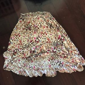 A long cheetah print skirt:)